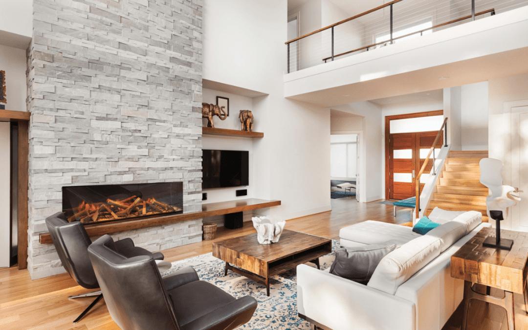 luxury fireplace interior