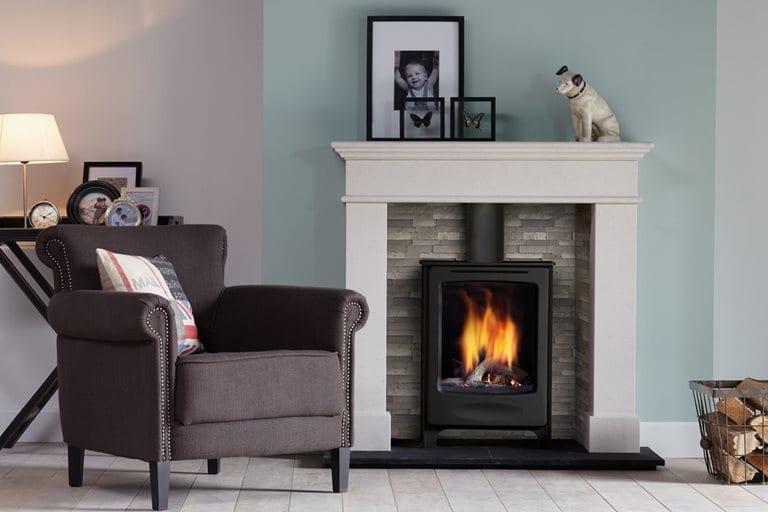 Log burning stove in Cheshire