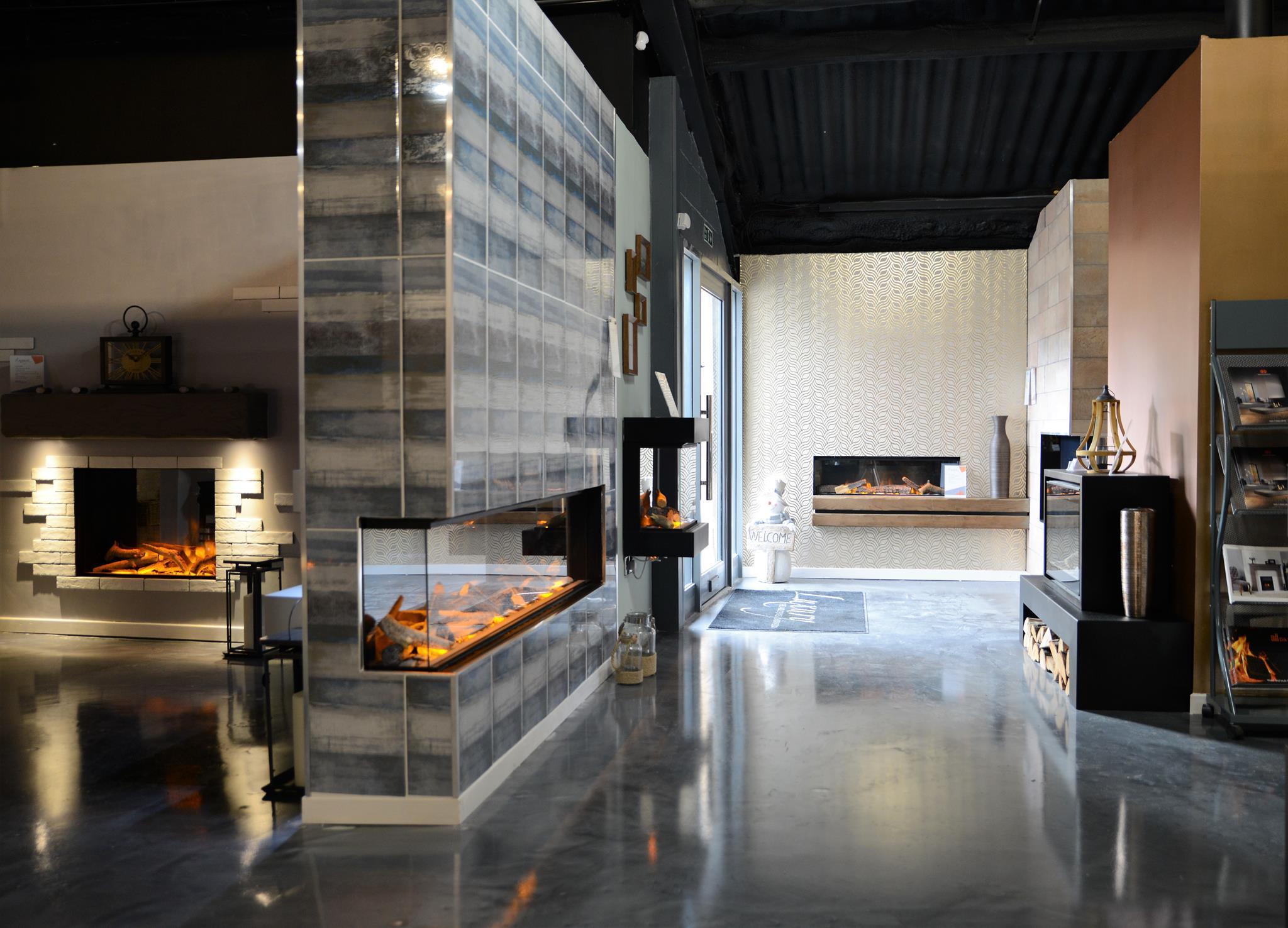 Luxury Fireplace Showroom Entrance