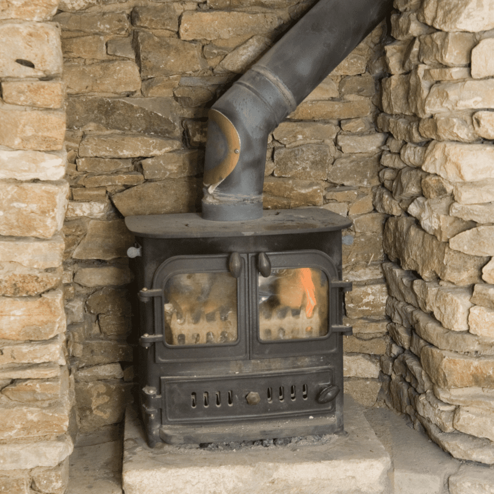 Check for rust on your wood burning stove