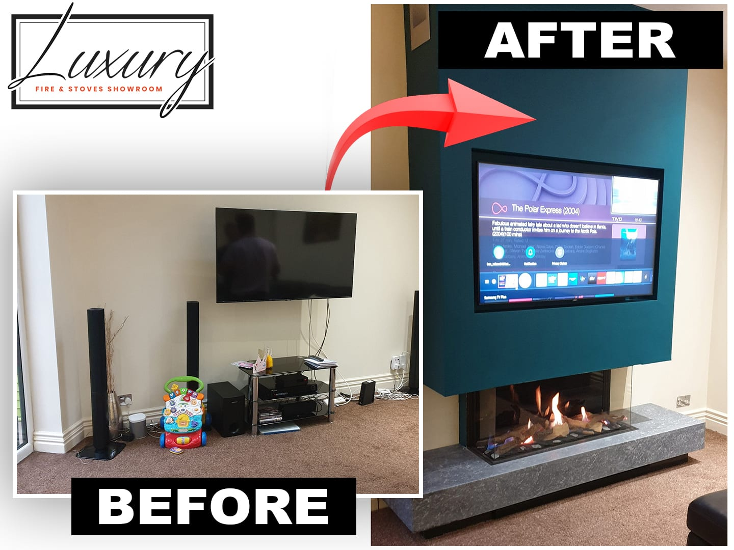 Cheshire fireplaces before and after