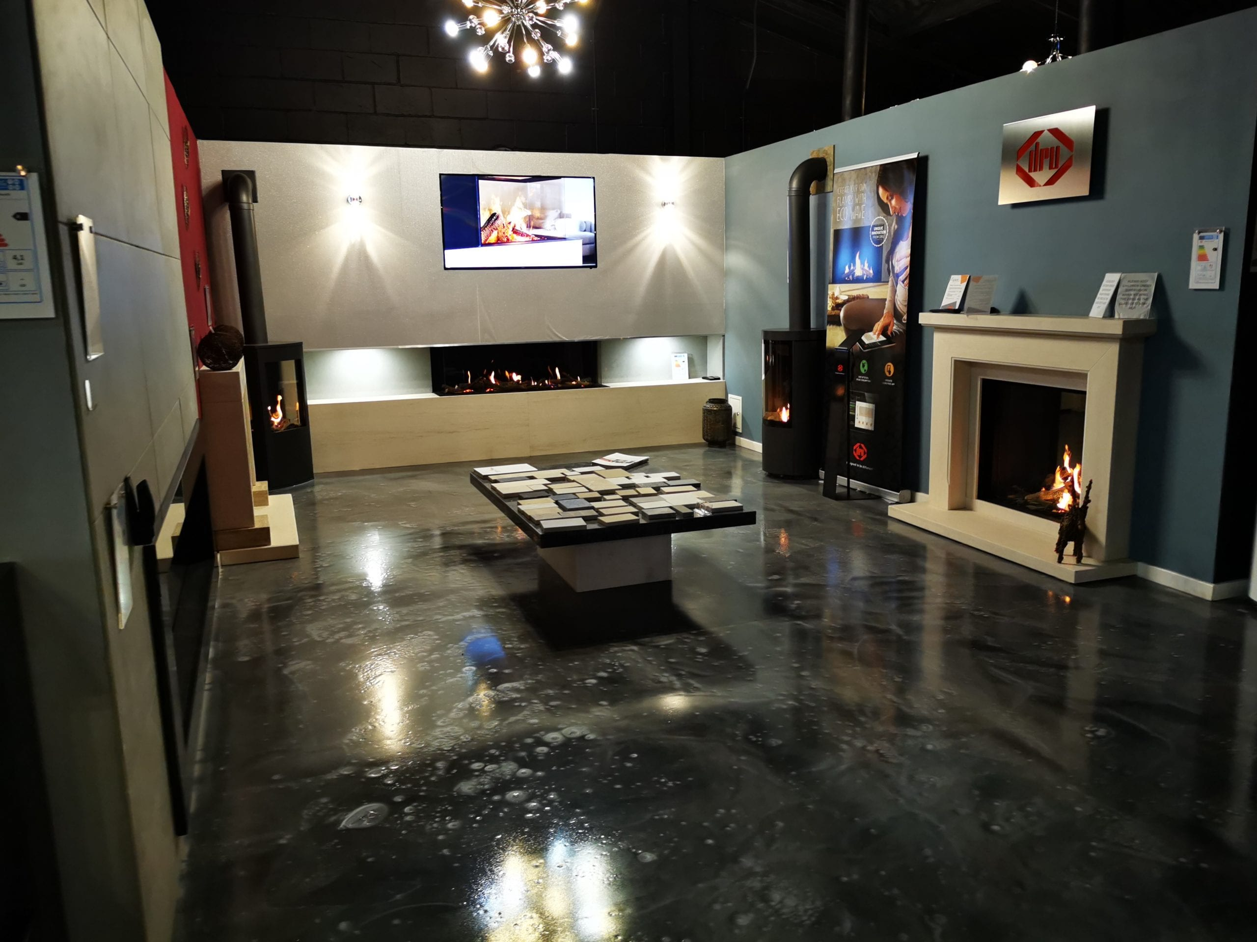 Our fireplace warehouse in Manchester