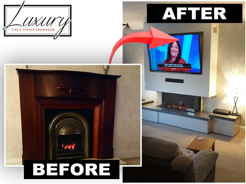Luxury Cheshire fireplace transformation