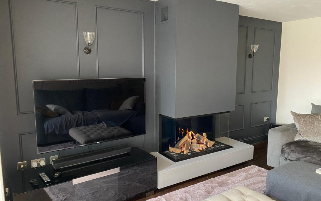 Luxury Fire Showrooms latest Fireplace Transformation in April!